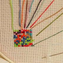 """Набор для вышивания   """"Цветущие пионы - символ удачи"""", фото 3"""