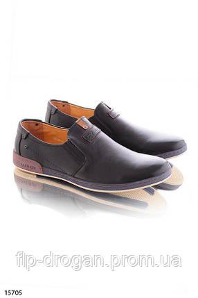 Туфли без шнурков , в черном цвете! в наличии! новые! 41-45 р!, фото 2