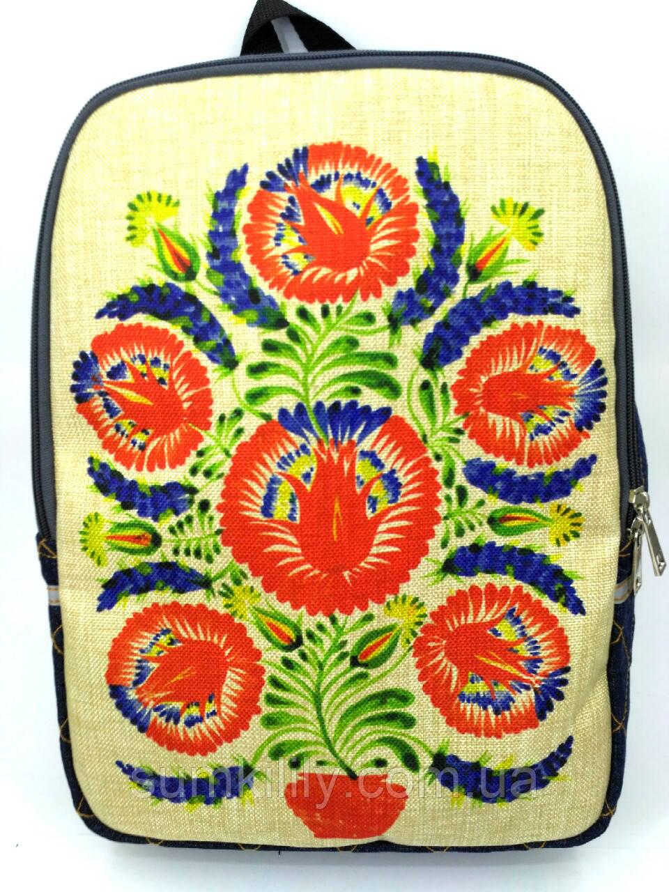 Джинсовый рюкзак Дерево жизни 3