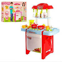 Детская игровая кухня Fun Cook 889-57-58 плита посуда продукты звук свет