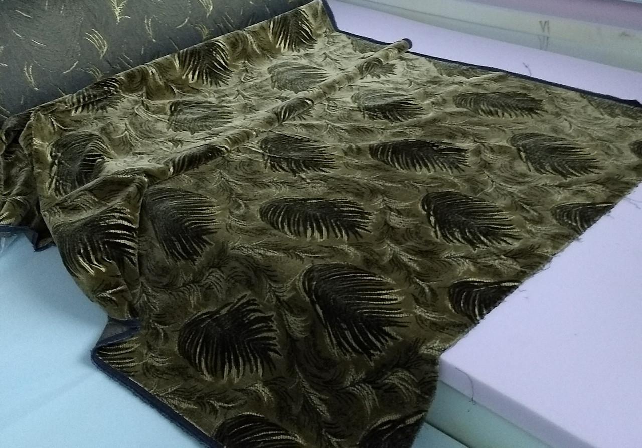 Обивочная ткань для мебели Шпигель Папородь олив.