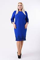 Платье женское Кружево электрик, размер 50, 52, 54, 56