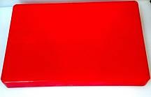 Доска разделочная пластиковая красного цвета 440*300*50 мм (шт)