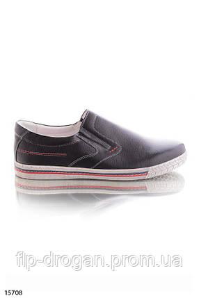 Туфли без шнурков , в черном цвете! в наличии! новые! 40-45 р!, фото 2