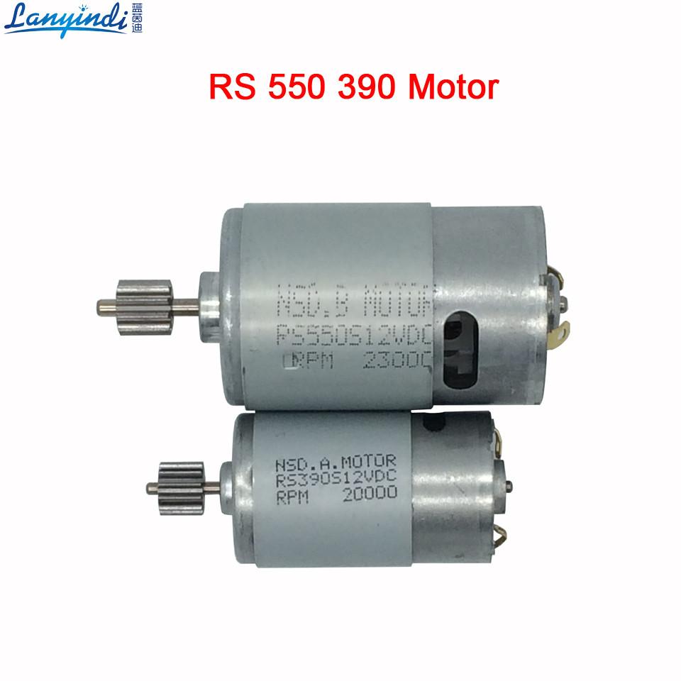 Мотор редуктора детского электромобиля RS380 6V 18000 оборотов