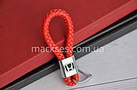 Брелок кожаный Mackses Honda Красный