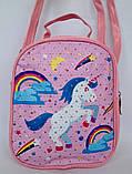 Детские сумки-рюкзак для девочки с мультяшками 16*17 см, фото 2