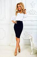 Женский стильный костюм: блуза и юбка-карандаш (3 цвета)