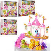 Игровой набор Домик Литл Пони (my Litle Pony), лошадки 4 шт, аксессуары, 6628A