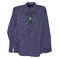Мужская котоновая рубашка A26-1b (46-54р-р; длинный рукав) оптом со склада в Одессе
