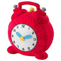 IKEA HEMMAHOS Мягкая игрушка, часы, красный  (503.334.12)