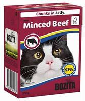 Бозита консервы для котов мясные кусочки в желе Говядина  370 г
