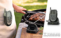 Беспроводной термометр (до 100 м) с щупом для приготовления пищи CVMH-G353 (-10 до +250 °С) С ф-ей Будильник