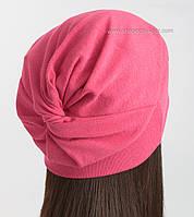 Трикотажная удлиненная шапка TRL-Аква с оригинальной макушкой