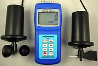 Чашечный анемометр SR5836C (АМ4836С)(0.4-45мс)с флюгером и компасом.С опр. объёма возд. потока и напр. ветра, фото 1