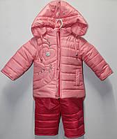 Детский комбинезон курточка и штаны Флиз на рост 80-92