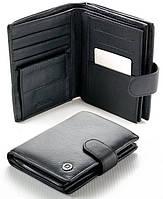 Мужской кожаный кошелек правник Boston с отделом под паспорт
