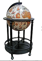 Глобус бар напольный на 4 ножки 420мм беж-черный