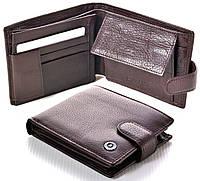 Мужской кожаный кошелек Boston с визитницей коричневый