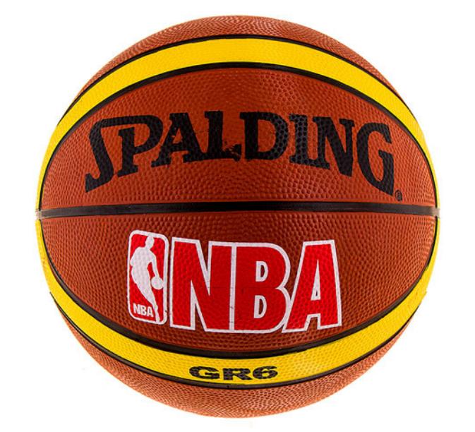 Мяч баскетбольный резиновый Spelding, №6, полоса