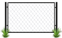 Забор из металлической сетки рабица 2 х 2,5 | Цена на производство и установку забор из сетки от изготовителя, фото 1