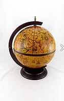 Глобус бар настольный 420 мм коричневый