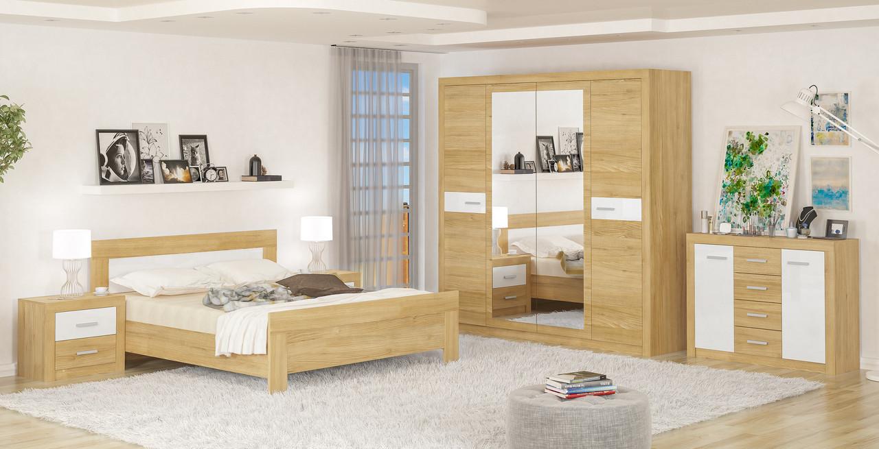 Спальня Мебель-Сервис Квадро комплект модульный