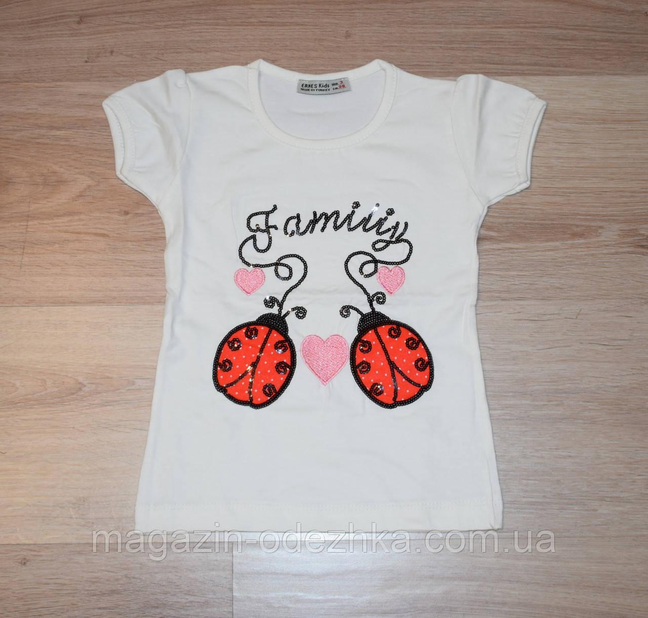 """Летняя футболка для девочки 3-4-5-6-7 лет Турция """"Ernes"""""""