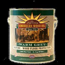 Масло для деревянных поверхностей, серое, Warm Grey, 3.79 litre, American Wood Oil
