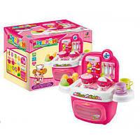 Детская Кухня игрушка 24 элемента, конфорки светятся, звуки плиты, размер 37 x 21 x 37 см,  2065