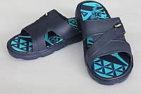 Шлепанцы подростковые синие с голубым оптом Даго, фото 1