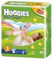 "Подгузники ""Huggies UltraComfort"" 3 (5-9кг) - 80шт"