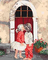 Рисование по номерам Первый поцелуй (KHO2325) Идейка 40 х 50 см (без коробки)
