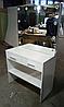 Туалетный столик белый с выдвижными ящиками и нижней полочкой, фото 2