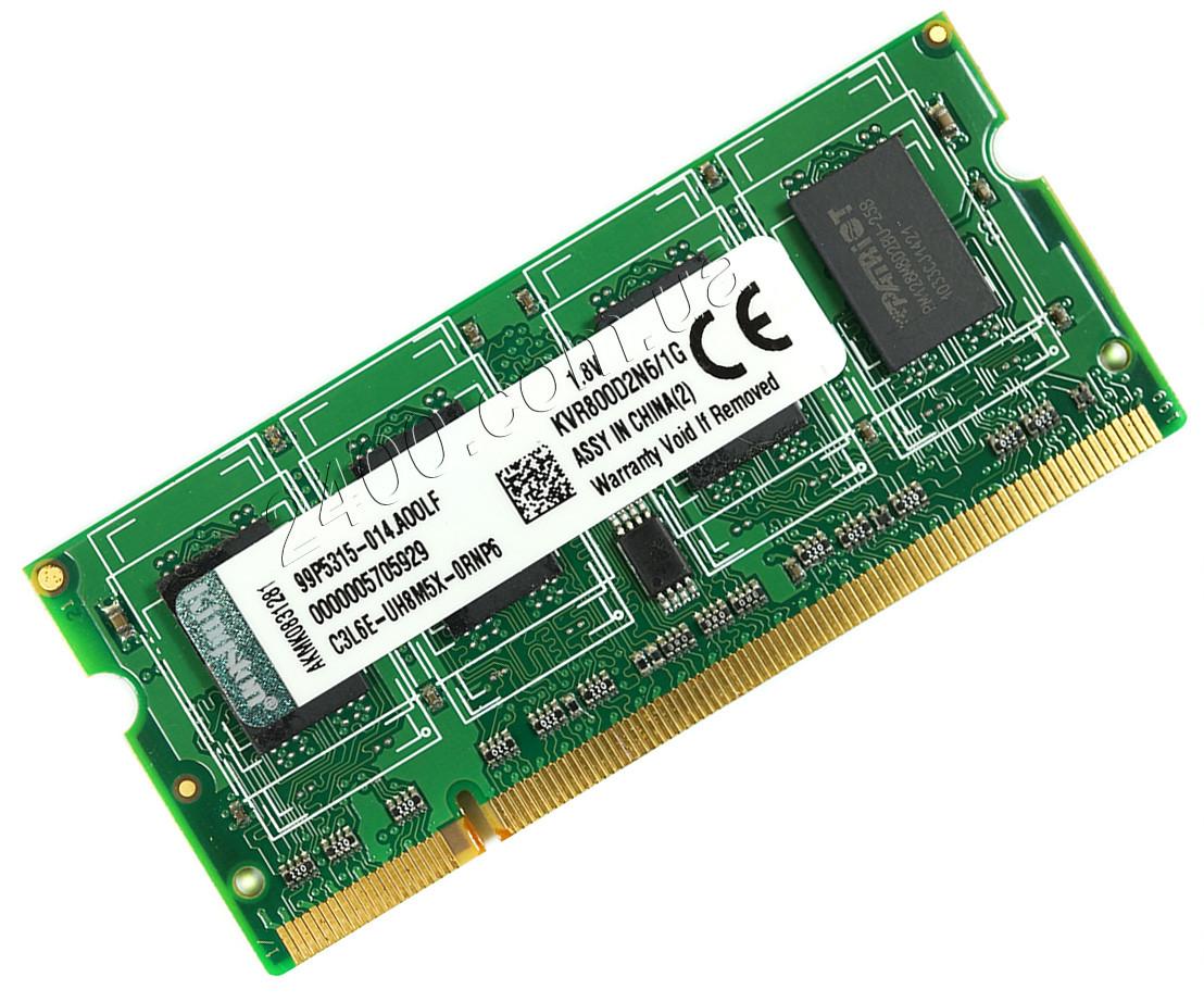 DDR2 1GB SODIMM планка памяти для ноутбука, универсальная PC2-6400 KVR800D2N6/1G