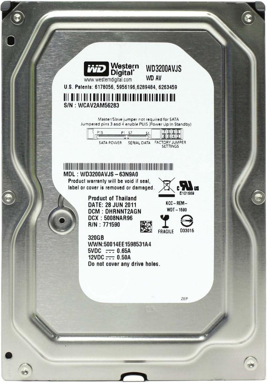 Жесткий диск (HDD) Western Digital 320GB (WD3200AVJS) (3.5/8M/7200RPM/SATA II)
