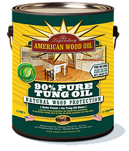 Натуральное тунговое масло для древесины, 90% Pure Tung Oil, 0.946 litre, American Wood Oil