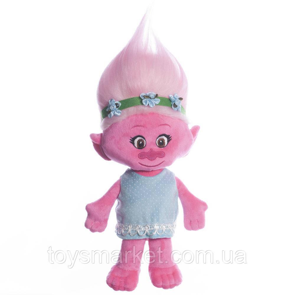 Мягкая игрушка Тролли Розочка, 36 см.