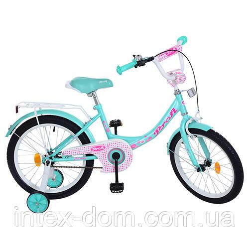 """Велосипед двухколесный PROFI Princess 18"""" (Y1812) с дополнительными колесами"""