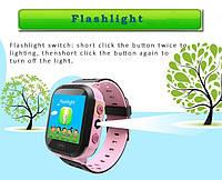 Детские умные часы телефон трекер Smart Baby Watch Q528 c сенсорным цветным экраном и фонариком (розовые), фото 1