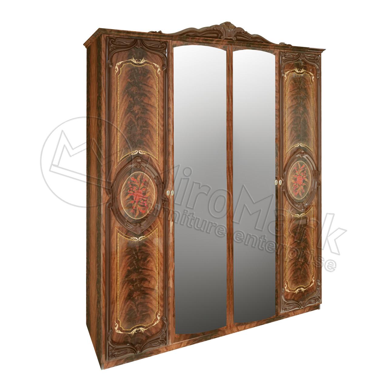 """Шкаф """" Реджина """" 4 дв. с зеркалом. Миро Марк."""