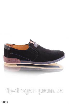 Туфли без шнурков , в черном цвете! в наличии! новые! 40 42 р!, фото 2