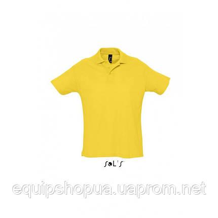 Рубашка поло мужская SOL'S SUMMER II-11342 Жёлтый, M, фото 2