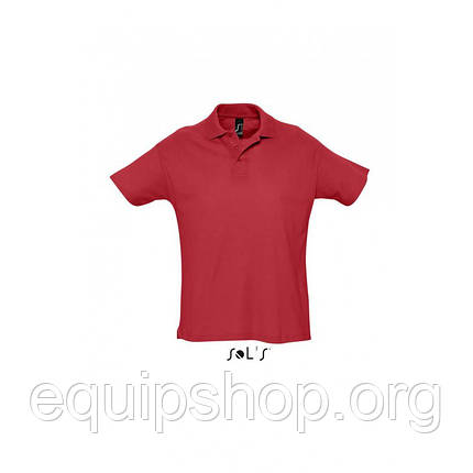 Рубашка поло мужская SOL'S SUMMER II-11342 Красный, L, фото 2