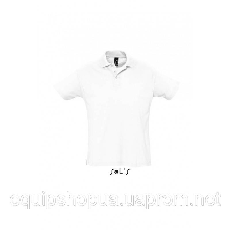 Рубашка поло мужская SOL'S SUMMER II-11342 Белый, S