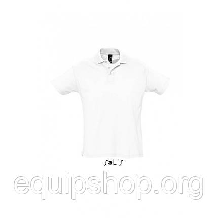Рубашка поло мужская SOL'S SUMMER II-11342 Белый, S, фото 2