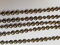 Гвоздевая лента декоративная (гвозди в ленте) d 9,5мм (старое золото)