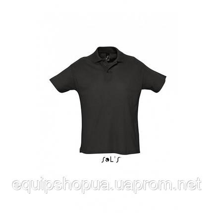 Рубашка поло мужская SOL'S SUMMER II-11342 Чёрный, XXL, фото 2