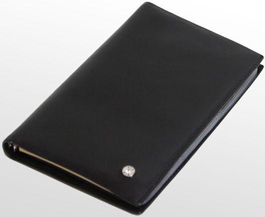 Кожаный блокнот-визитница VIP COLLECTION черный
