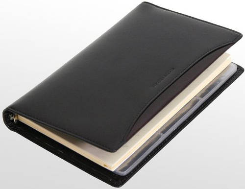 Стильный кожаный блокнот-визитница VIP COLLECTION, 84A PR черный, 84R PR красный